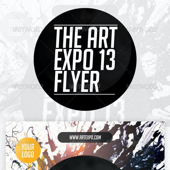Art Expo & Art Show Event Flyer Template PSD