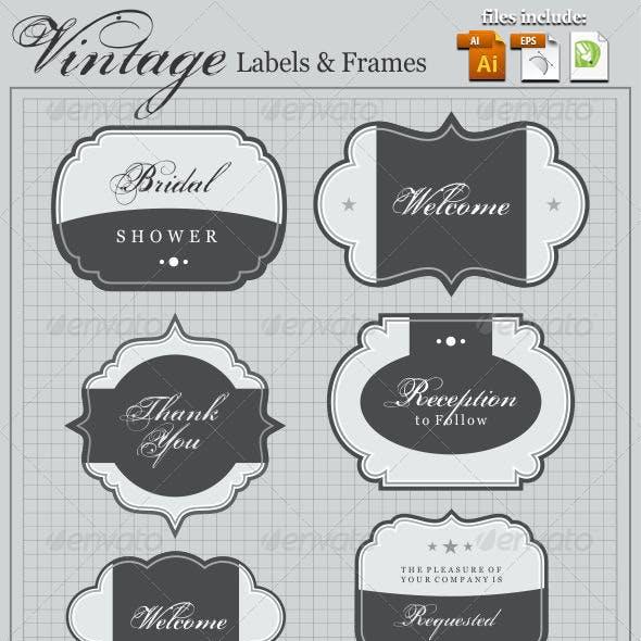 Vintege Frames & Labels