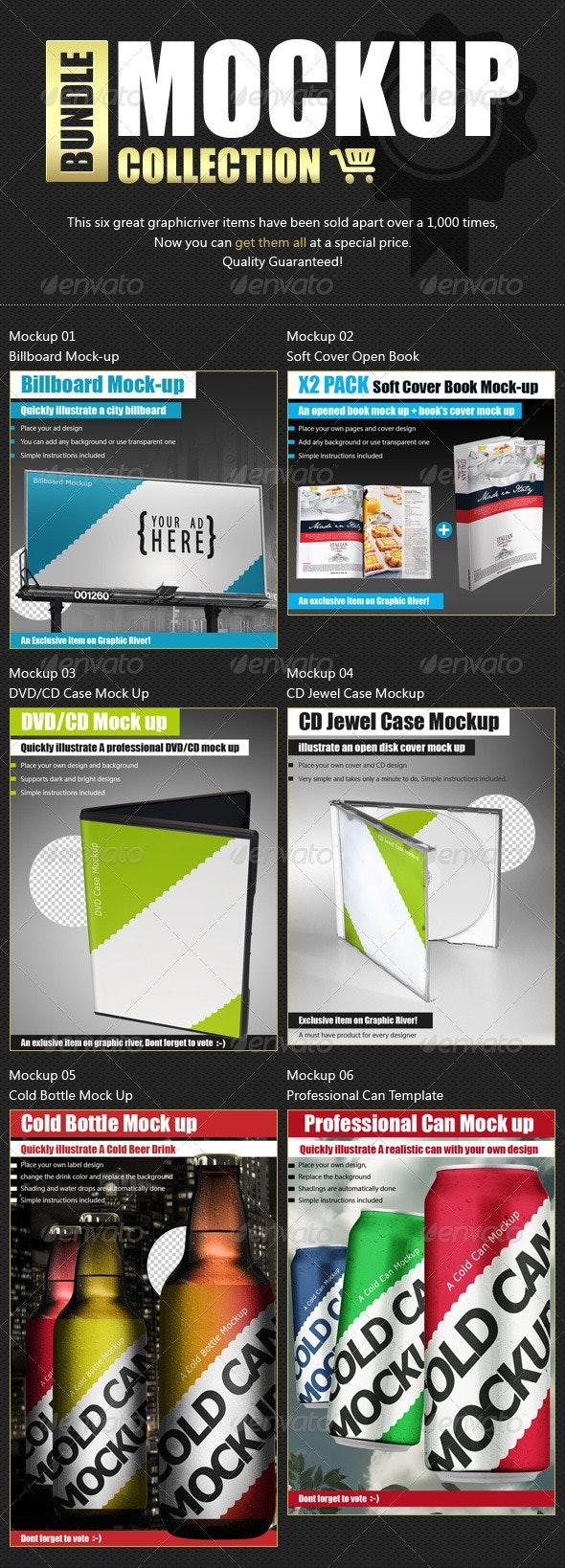 Mock Up Bundle - Top Mockups Collection - Miscellaneous Product Mock-Ups