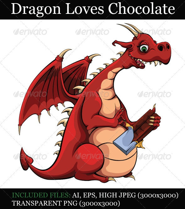 Dragon Loves Chocolate - Monsters Characters