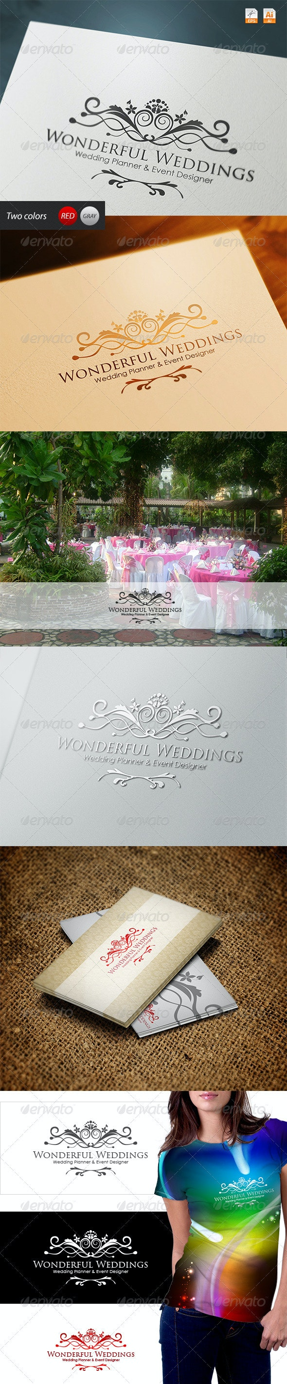 Wonderful Weddings - Planner and Event Designer - Vector Abstract