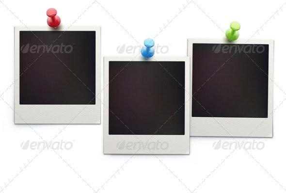 retro polaroid photo frames  - Objects Vectors