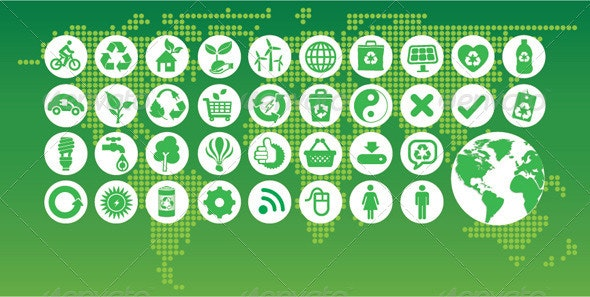 Eco Green Icon - Web Elements Vectors
