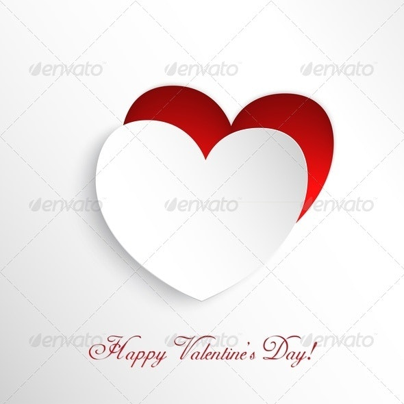 Heart Cut Out of Paper - Valentines Seasons/Holidays
