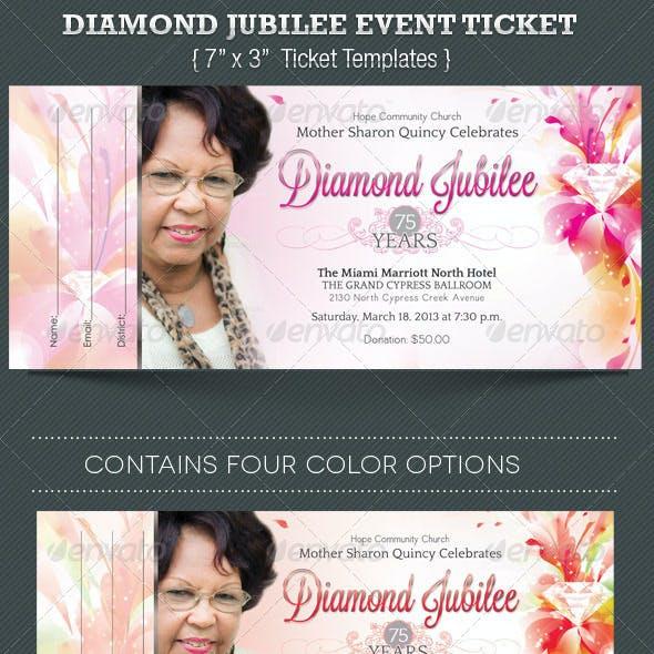 Diamond Jubilee Event Ticket Template
