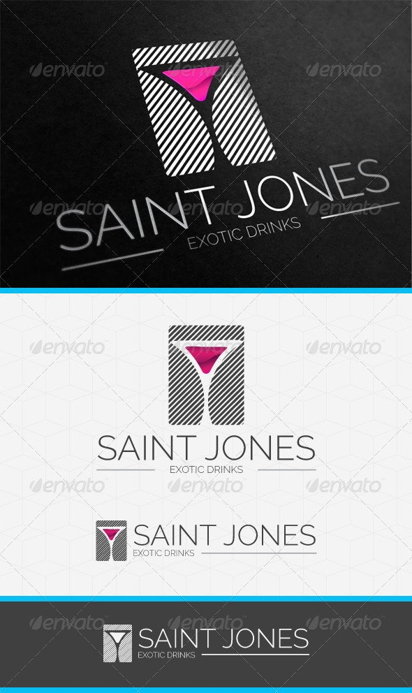 Exotic Classic Bar Logo Template - Objects Logo Templates