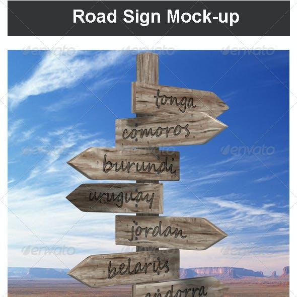 Road Sign Mock-up