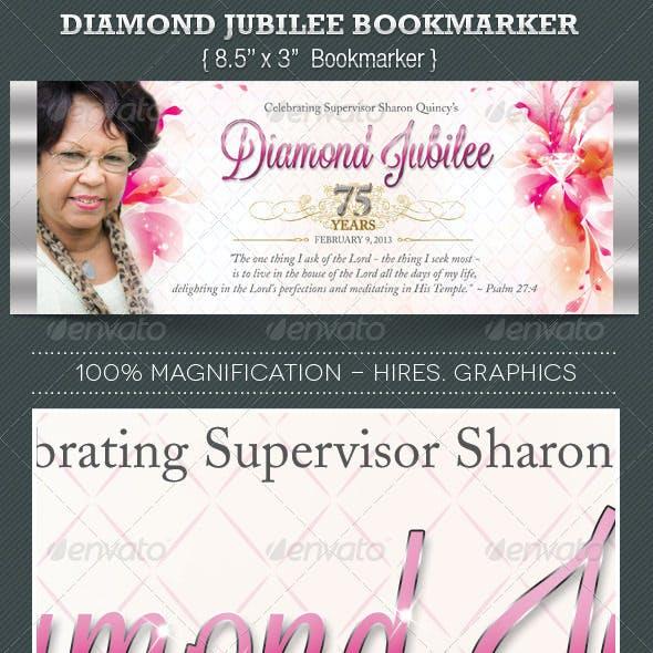 Diamond Jubilee Bookmarker Template