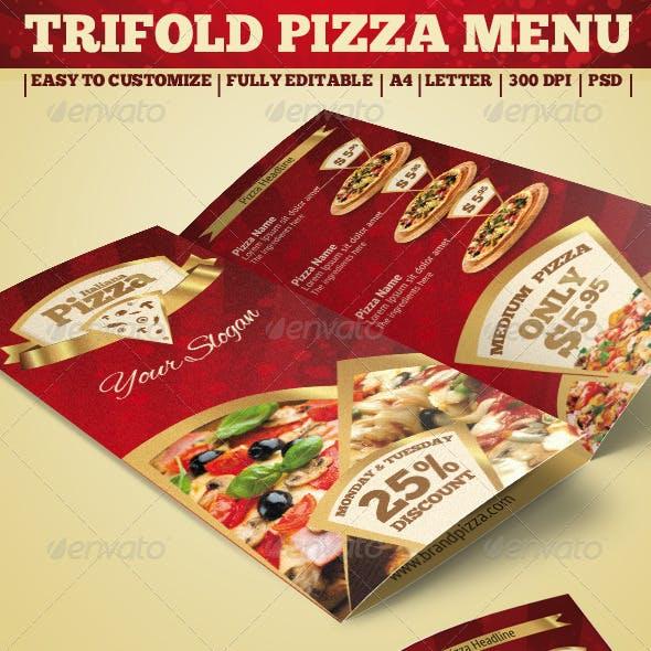 Trifold Brochure - Pizza Menu