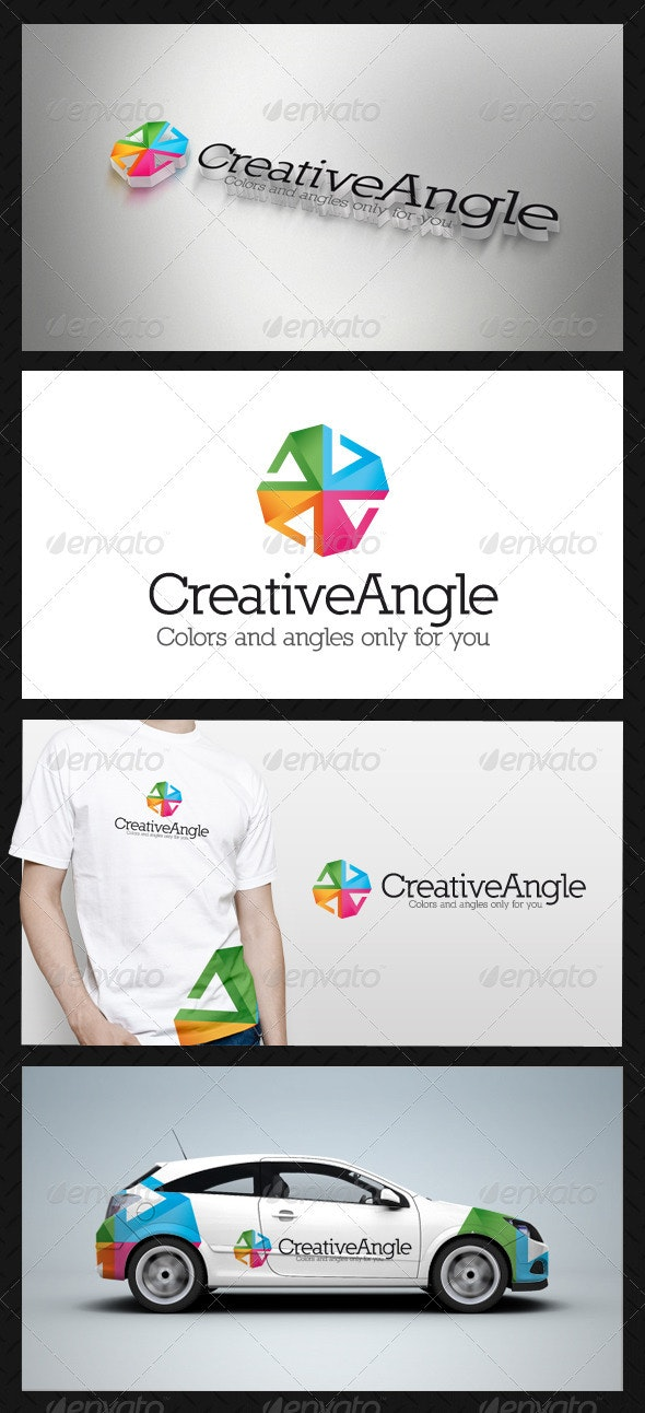 Creative Angle Logo Template - Vector Abstract
