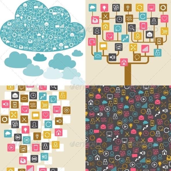Social Network Backgrounds.
