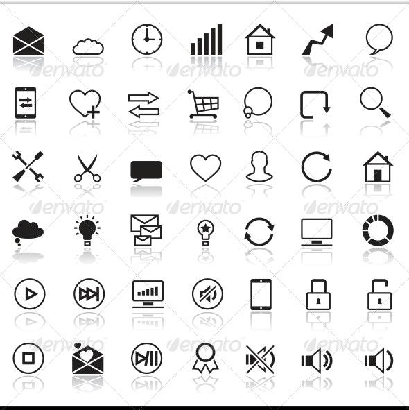 Set of 42 SEO Internet Icons. - Web Technology