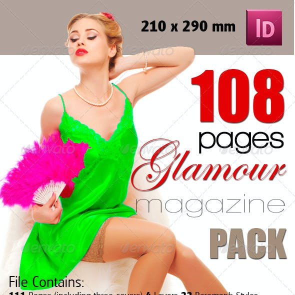 108 Pages Glamour Magazine Bundle