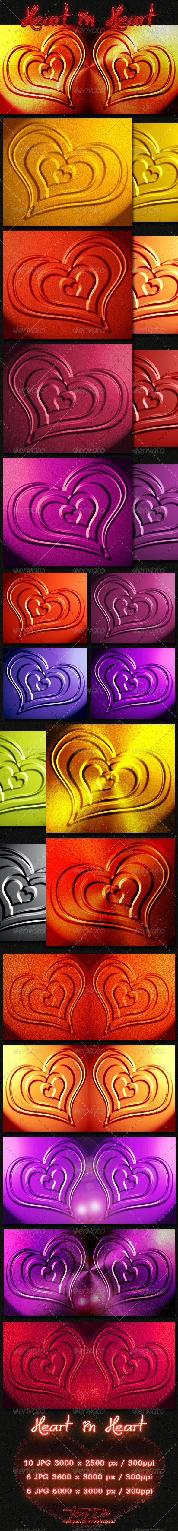 Heart in Heart 12 Backgrounds - Backgrounds Graphics