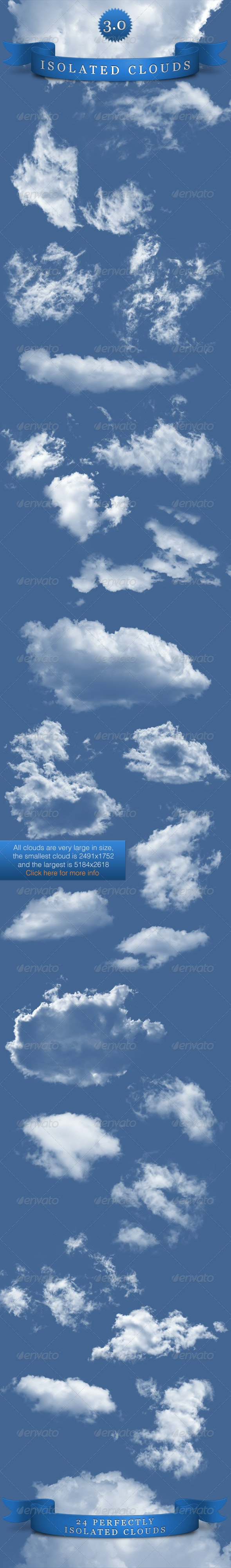 Isolated Clouds 3.0 - Nature & Animals Isolated Objects