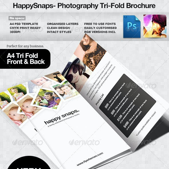 HappySnaps Photography / Photographer Tri Fold
