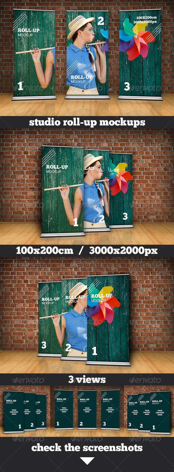 Studio Roll Up Mockup - 100x200 cm - Miscellaneous Displays