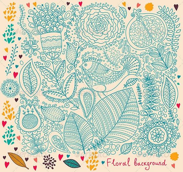 Design Menu and Invitation - Backgrounds Decorative
