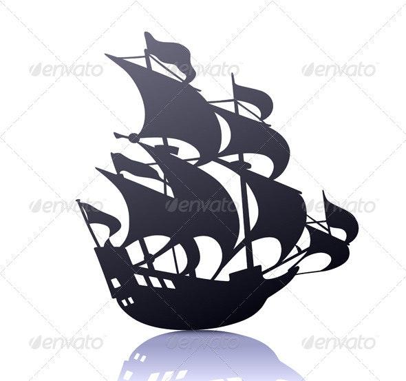 Sailing Ship - Decorative Vectors