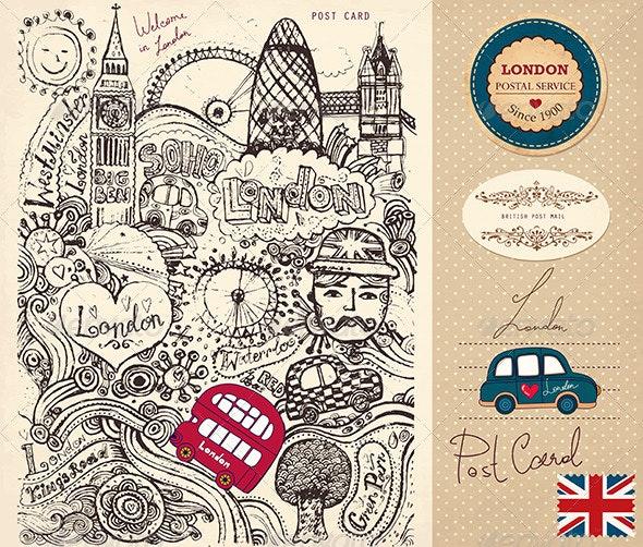 London Post Card - Travel Conceptual