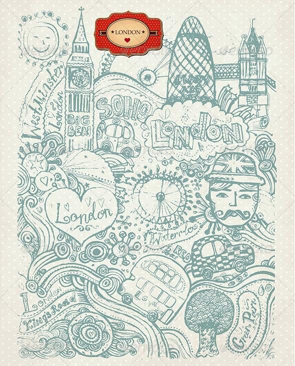 Set of London Symbols - Travel Conceptual
