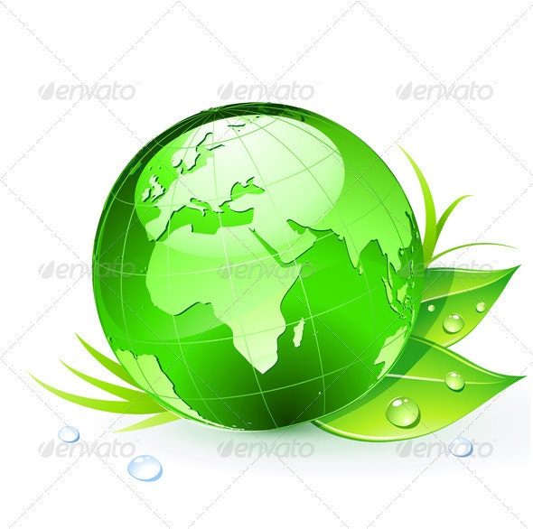 Green Earth Planet - Conceptual Vectors
