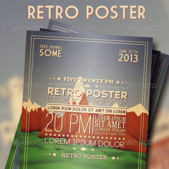 "Retro ""Low Poly"" Poster"