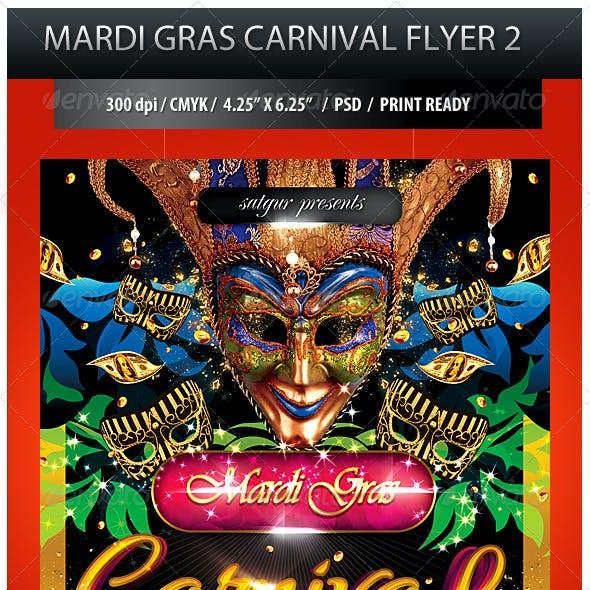 Mardi Gras Carnival Party Flyer 2