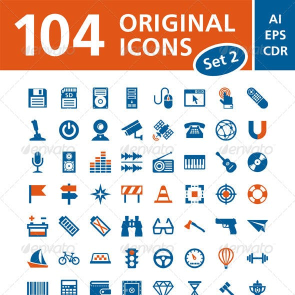 104 Vector Icons - Set 2