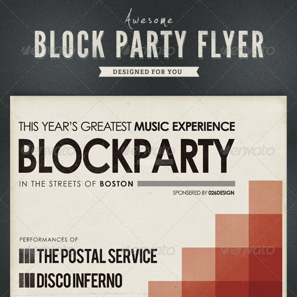 Block Party Flyer / Poster