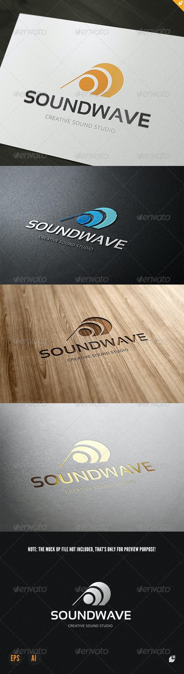 Sound Wave Logo - Vector Abstract