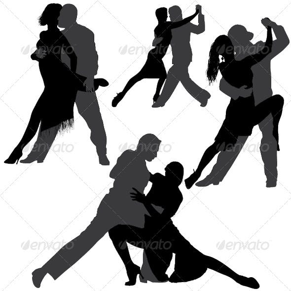 Tango and Salsa Vector Silhouettes