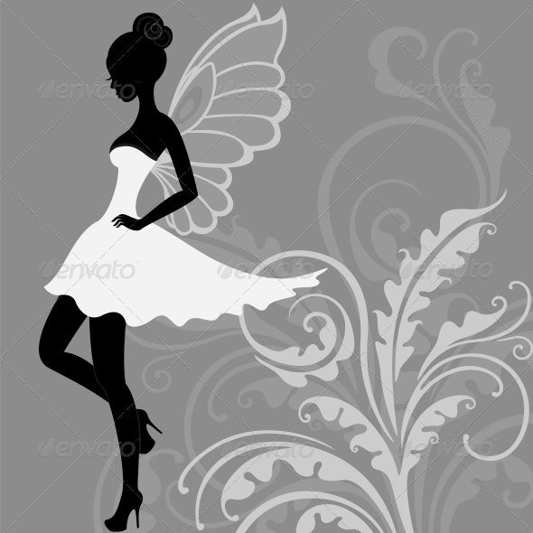Silhouette of Fairy - Miscellaneous Characters