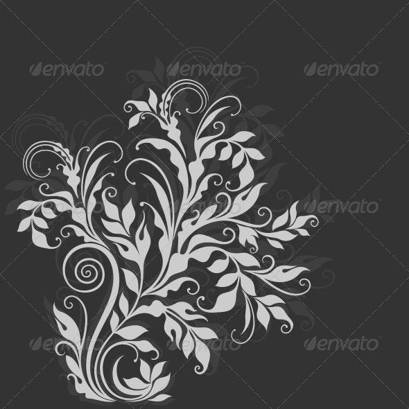 Elegant Decorative Floral Illustration - Backgrounds Decorative