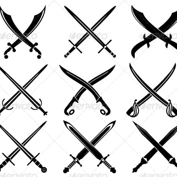Set of Heraldic Swords and Sabers