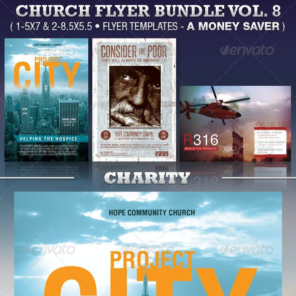 Charity Church Flyer Template Bundle