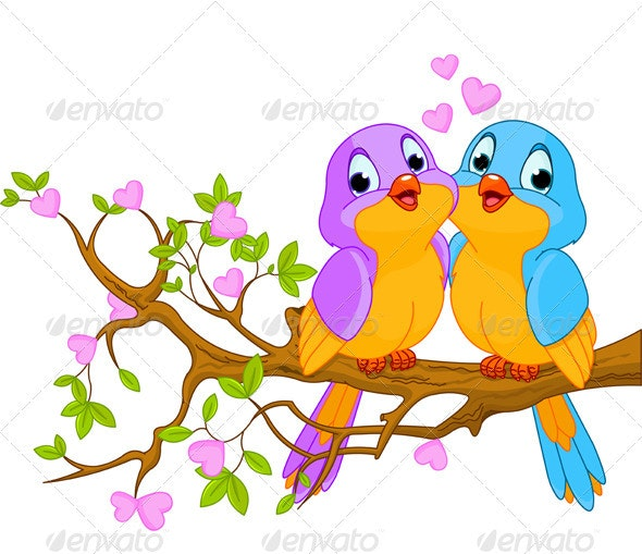 Birds in Love - Valentines Seasons/Holidays