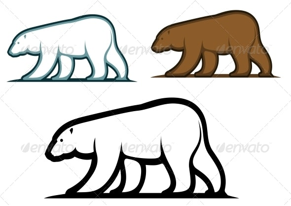 Bear Mascots in Cartoon Style - Animals Characters