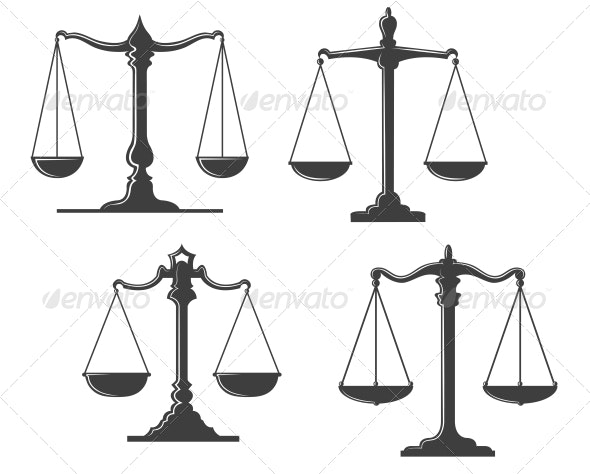 Vintage Justice Scales - Man-made Objects Objects