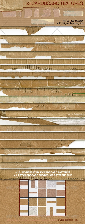 23 Cardboard Textures - Miscellaneous Textures
