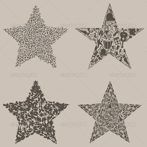 Set of stars - Miscellaneous Vectors