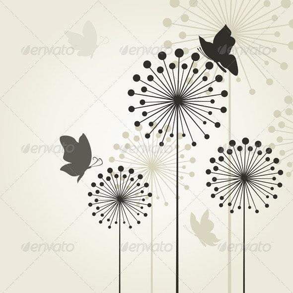 Three dandelions2 - Flowers & Plants Nature