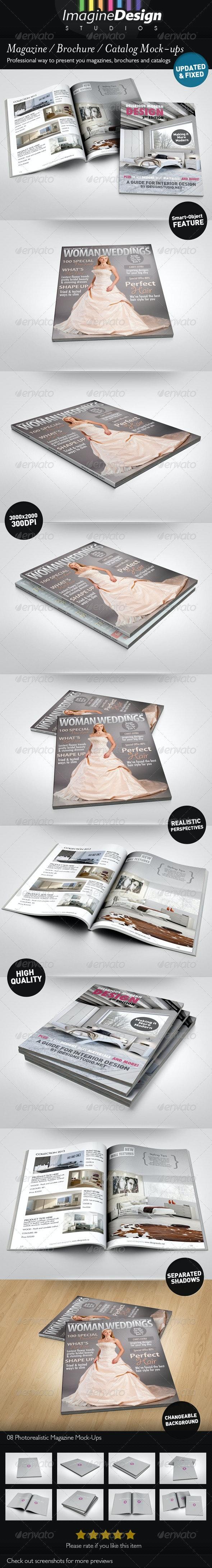 Photorealistic Brochure / Magazine Mock-up - Magazines Print