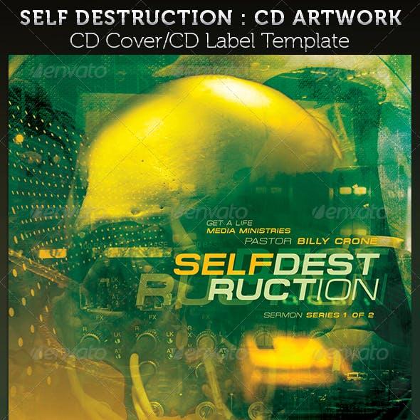 Self Destruction CD Cover Artwork Template