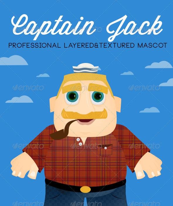 Captain Jack Macot - Characters Illustrations
