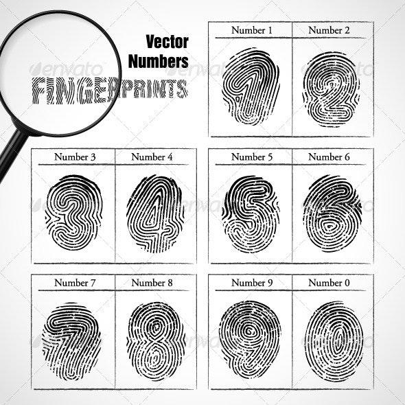 Numbers of fingerprint - Miscellaneous Conceptual