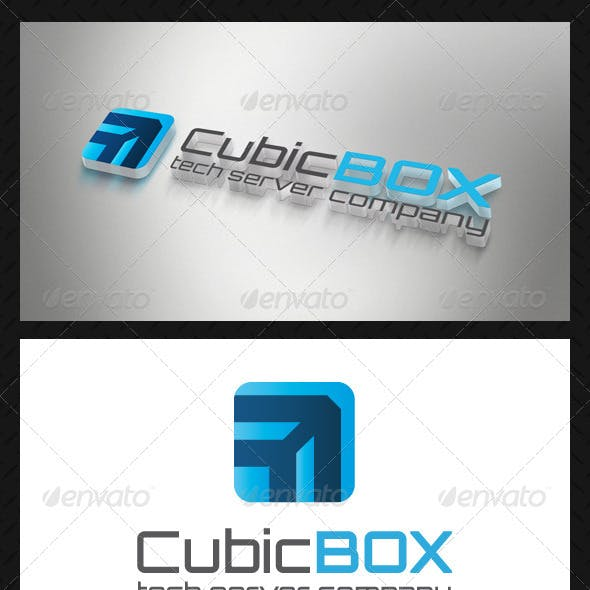 Cube Box Tech Logo Template