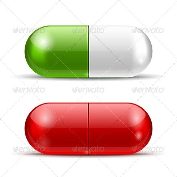 Vector Pills - Health/Medicine Conceptual