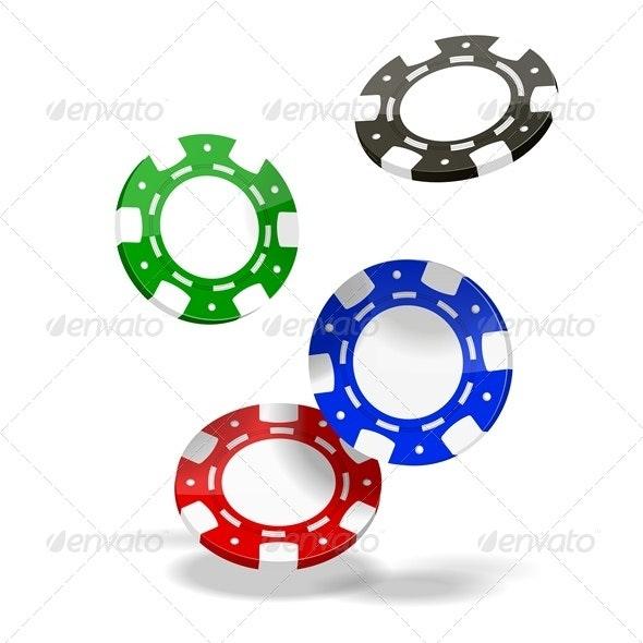 Poker Chips - Objects Vectors