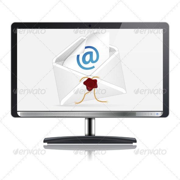 E-Mail Concept - Computers Technology